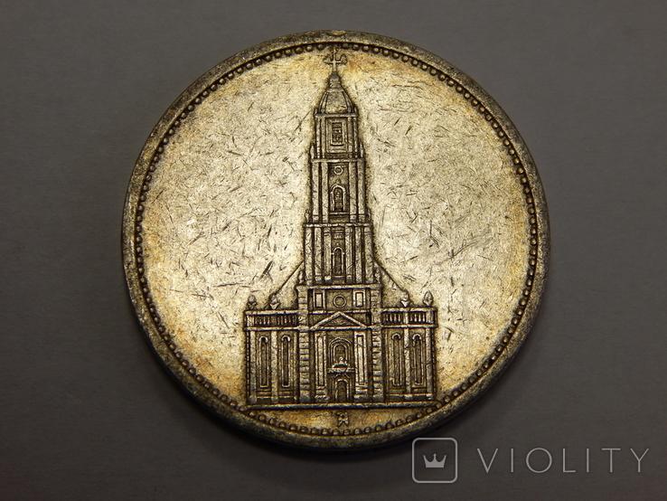 5 рейхсмарок, 1935 А, Германия, фото №3