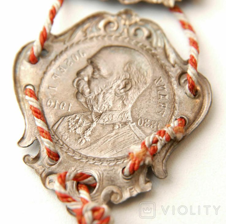 Австро-Венгрия. 80 лет, Император Франц-Иосиф. 1830-1910, 110мм, фото №9