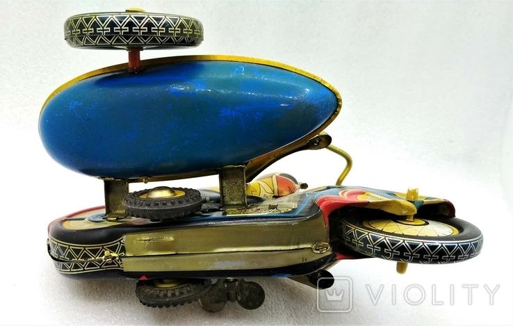 Мотоцикл с Коляской Tin Litho Винтаж Великобритания, фото №6