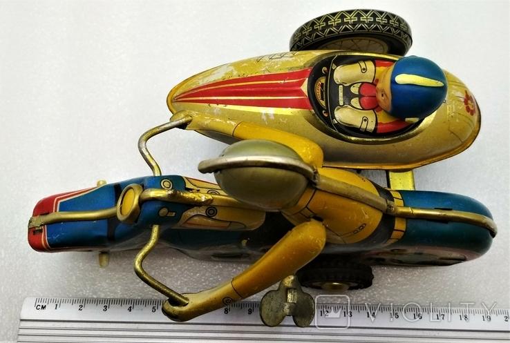 Мотоцикл с Коляской Tin Litho Винтаж Великобритания, фото №10