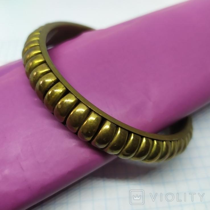 Латунный полый браслет. ширина 12мм (3), фото №4