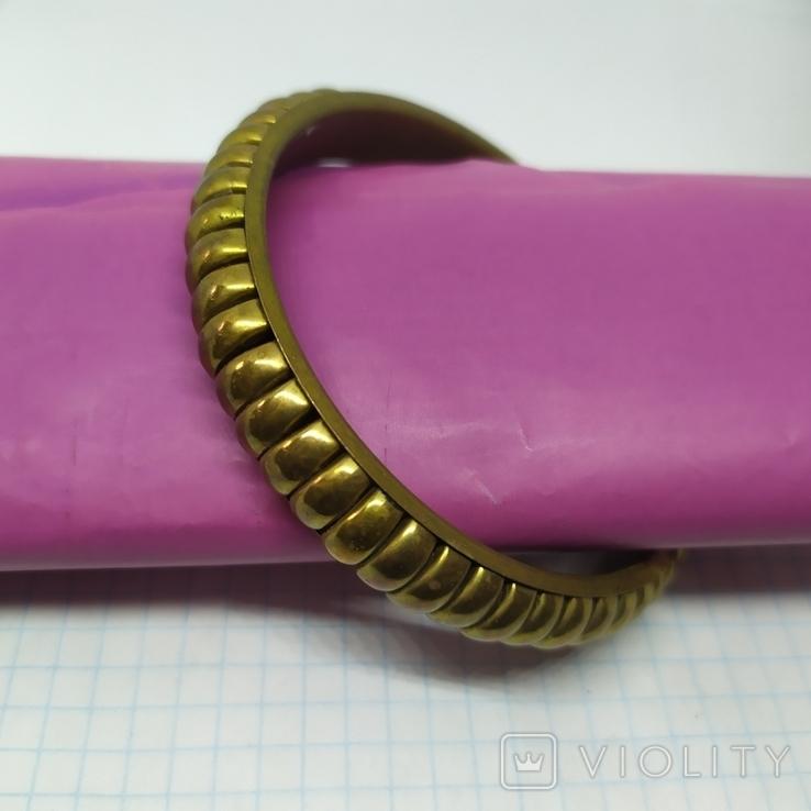 Латунный полый браслет. ширина 12мм (3), фото №6