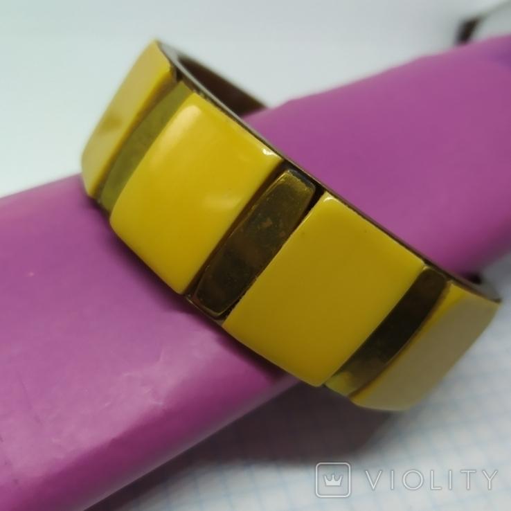 Латунный браслет со вставками из кости. ширина 23мм (3), фото №3