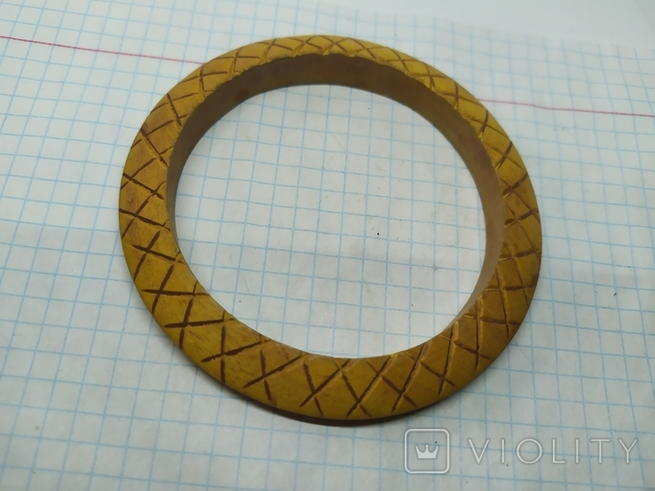 Деревянный браслет с орнаментом. (3), фото №6
