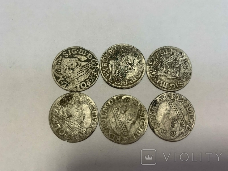 Монеты средневековья. Польша.6 шт., фото №13