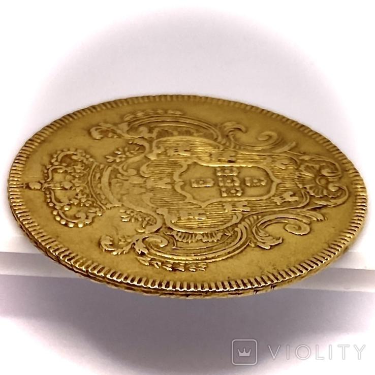 6400 рейсов. 1785. Мария I, Педро III. Бразилия (золото 917, вес 14,34 г), фото №8