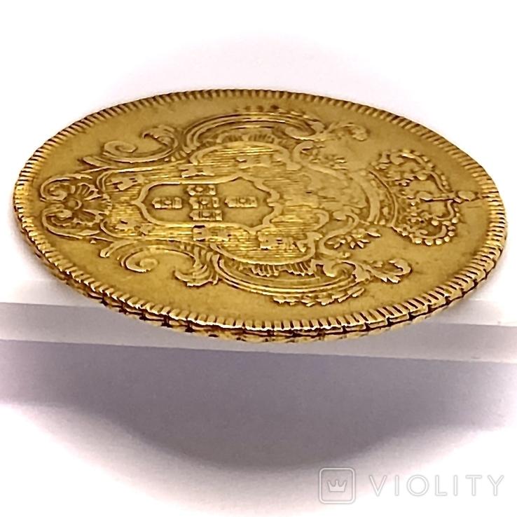 6400 рейсов. 1785. Мария I, Педро III. Бразилия (золото 917, вес 14,34 г), фото №9