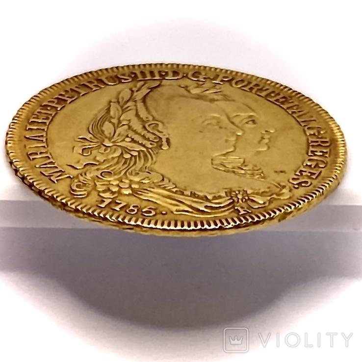 6400 рейсов. 1785. Мария I, Педро III. Бразилия (золото 917, вес 14,34 г), фото №10