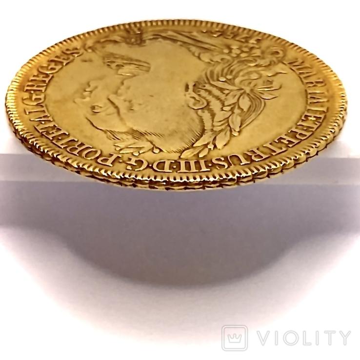 6400 рейсов. 1785. Мария I, Педро III. Бразилия (золото 917, вес 14,34 г), фото №11