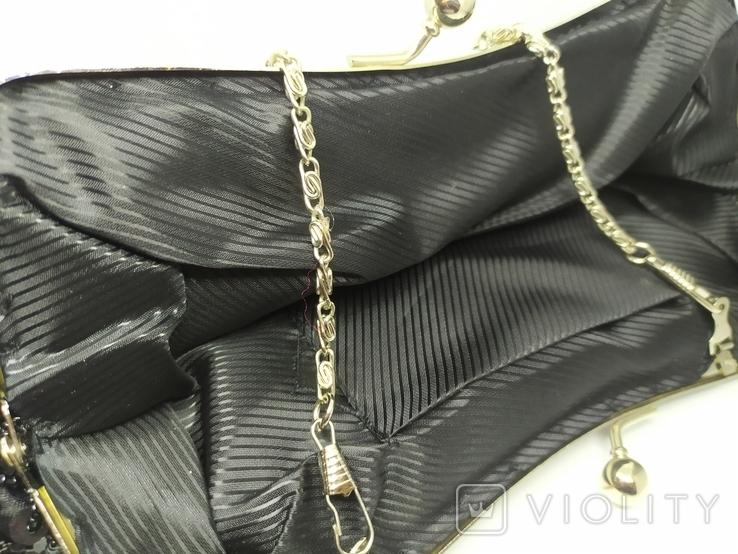 Вечерняя сумочка расшитая бисером. Ручная работа, фото №10