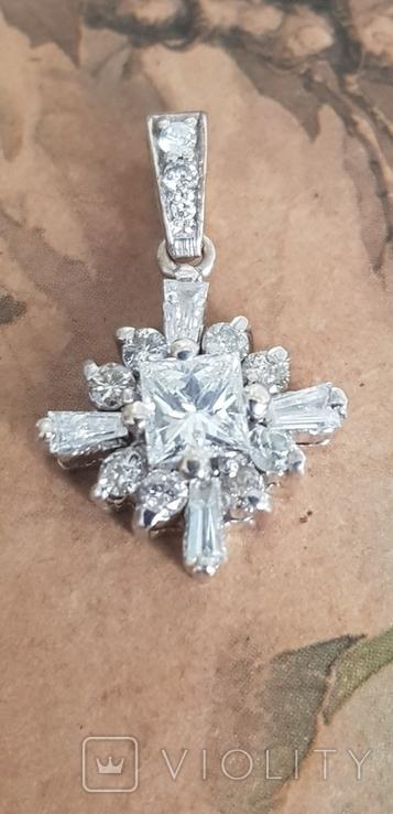 Золотой кулон с бриллиантами, фото №2