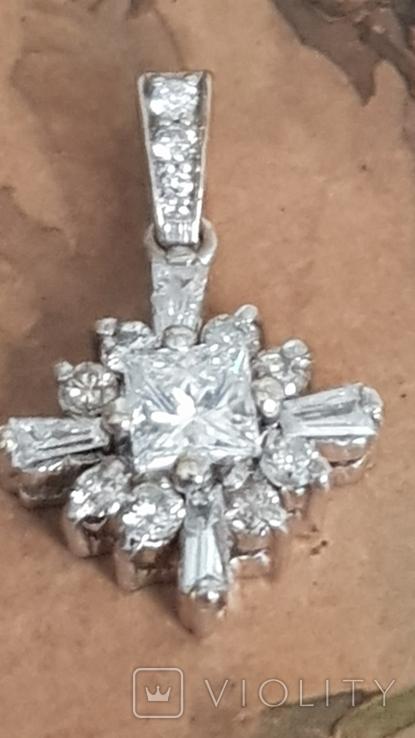 Золотой кулон с бриллиантами, фото №8