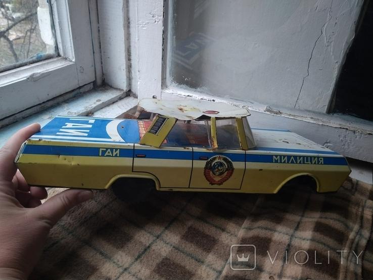 Машинка жесть Кубань Милиция СССР Большая, фото №2