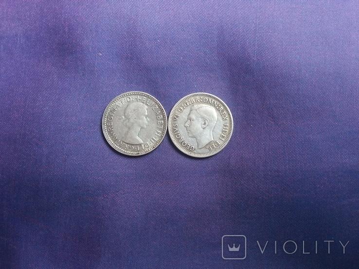 6 пенсів 1951 та 1962 років Австралія, фото №3