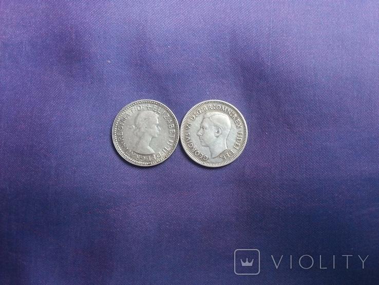 6 пенсів 1951 та 1962 років Австралія, фото №5