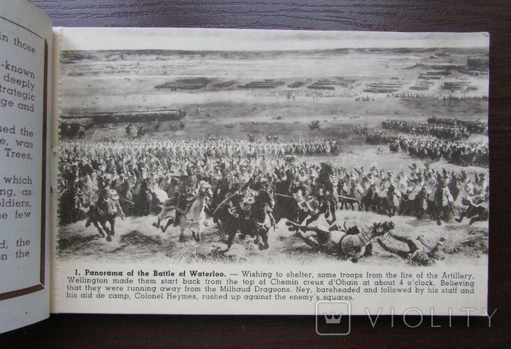 Панорама битвы при Ватерлоо. Серия из 12 открыток в буклете. Бельгия, 1920-е г., фото №4