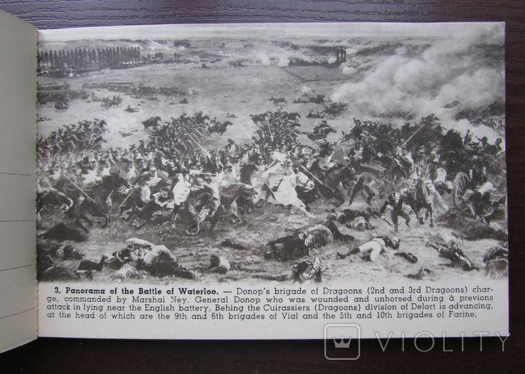 Панорама битвы при Ватерлоо. Серия из 12 открыток в буклете. Бельгия, 1920-е г., фото №7