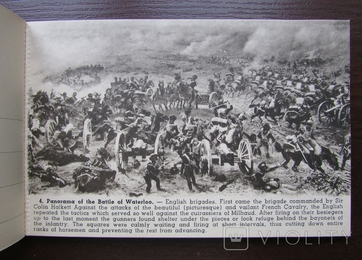 Панорама битвы при Ватерлоо. Серия из 12 открыток в буклете. Бельгия, 1920-е г., фото №8