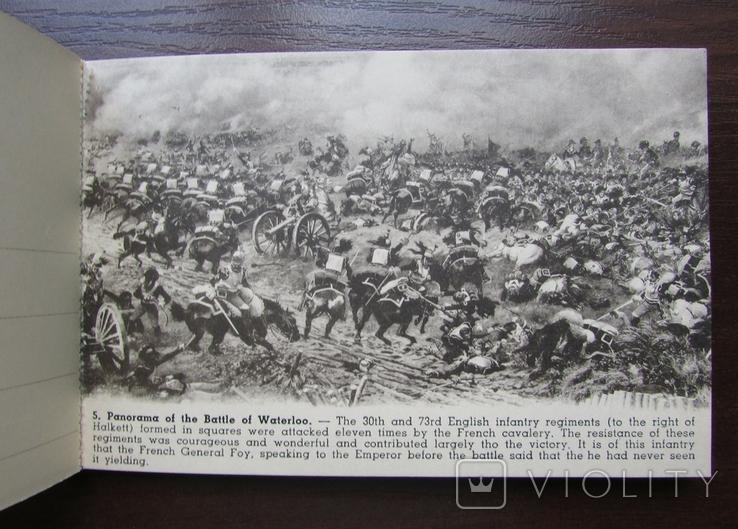 Панорама битвы при Ватерлоо. Серия из 12 открыток в буклете. Бельгия, 1920-е г., фото №9