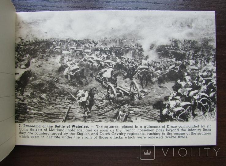 Панорама битвы при Ватерлоо. Серия из 12 открыток в буклете. Бельгия, 1920-е г., фото №11