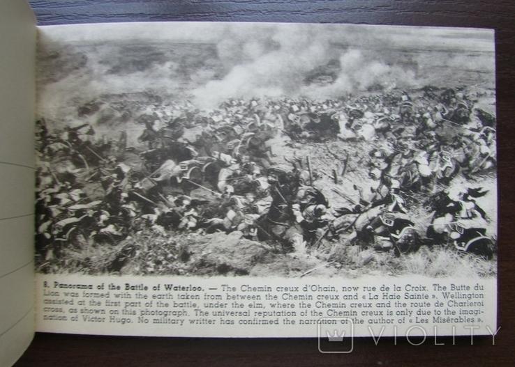 Панорама битвы при Ватерлоо. Серия из 12 открыток в буклете. Бельгия, 1920-е г., фото №12