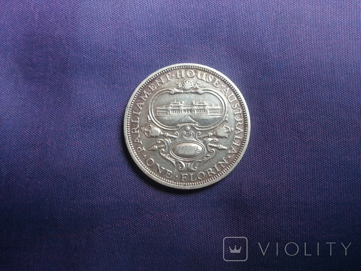 1 флорін 1927 рік Австралія, фото №2