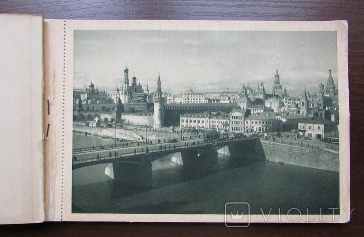 Москва. Набор из 11 открыток в буклете. Мосгублит, 1929 г., фото №3