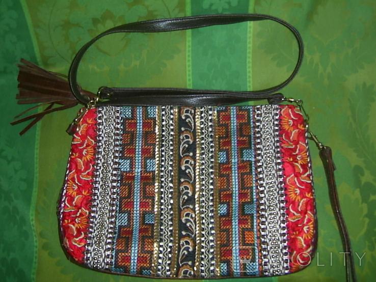 Сумка-клатч с вышивкой и декором, фото №7