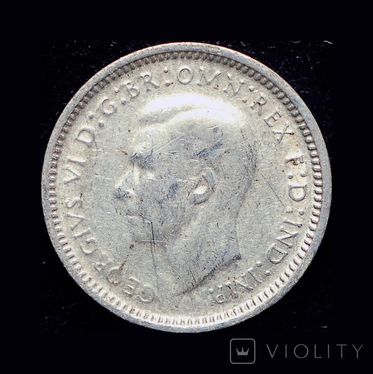 Австралия 3 пенса 1948 серебро, фото №3
