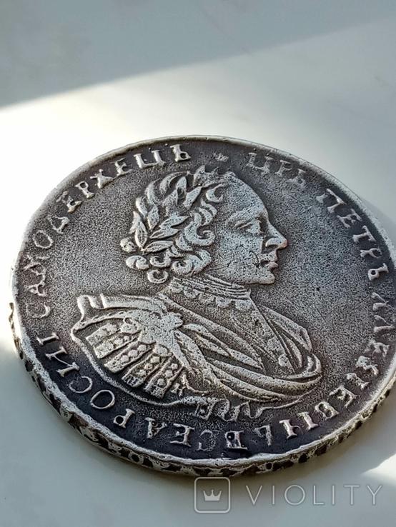 1 рубль 1721 г. K. Петр 1. Копия., фото №2