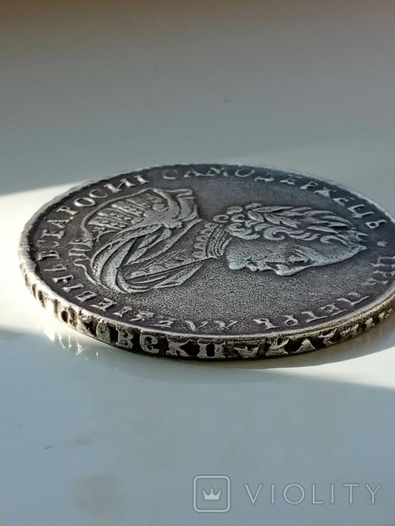 1 рубль 1721 г. K. Петр 1. Копия., фото №4