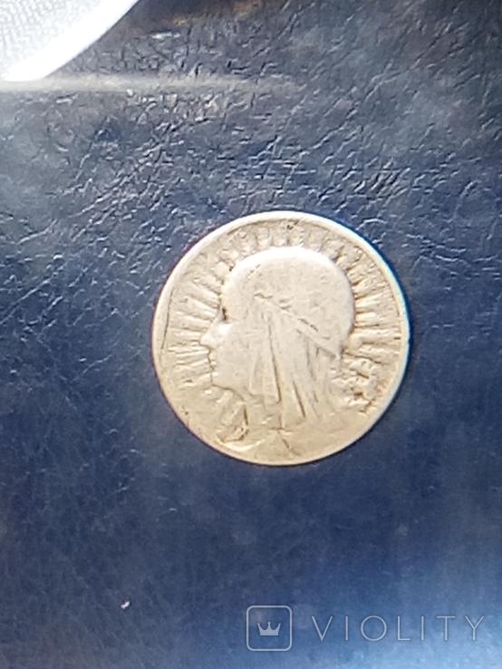 Монета Ядвига 1933г, фото №2
