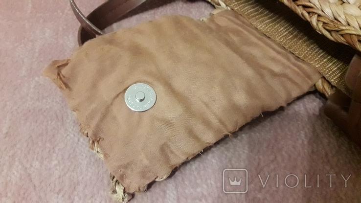 Плетенная сумка из соломы с подкладкой, фото №6