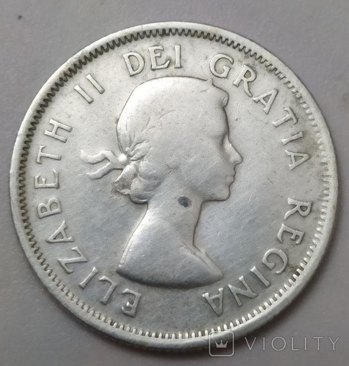 Монета 25 cents Canada-1954рік., фото №3