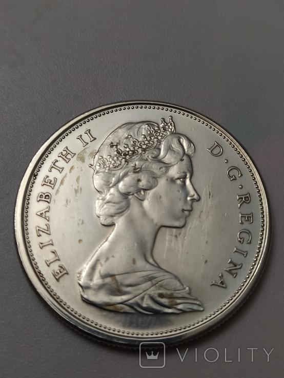 Монета 50 cents Canada 1966рік., фото №9
