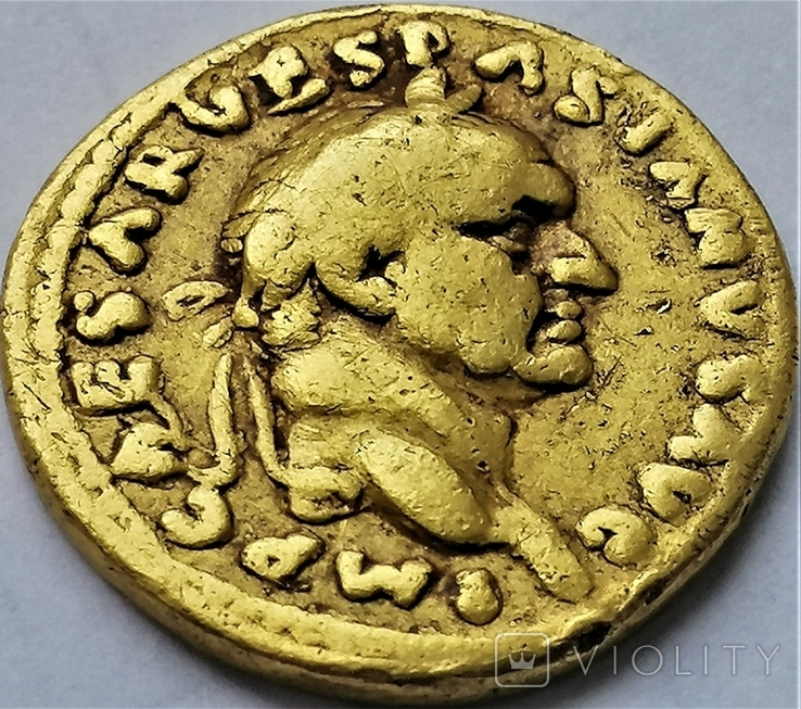 Ауреус Веспасіана, Римська імперія, 69-79 рр., фото №5