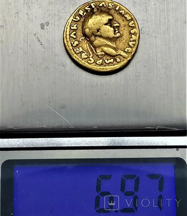 Ауреус Веспасіана, Римська імперія, 69-79 рр., фото №6