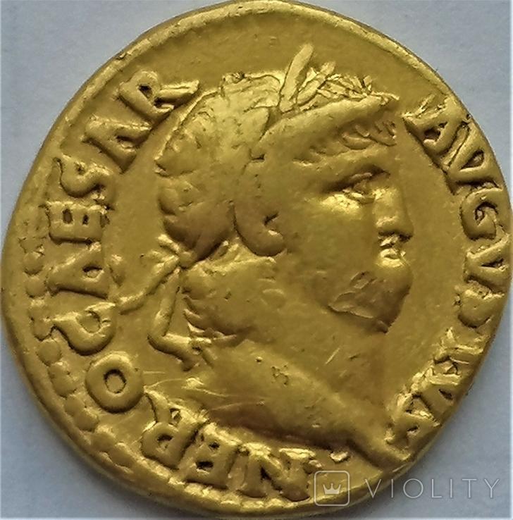 Ауреус Нерона, Римська імперія, 54-68 рр., золото, фото №2