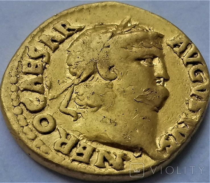 Ауреус Нерона, Римська імперія, 54-68 рр., золото, фото №5