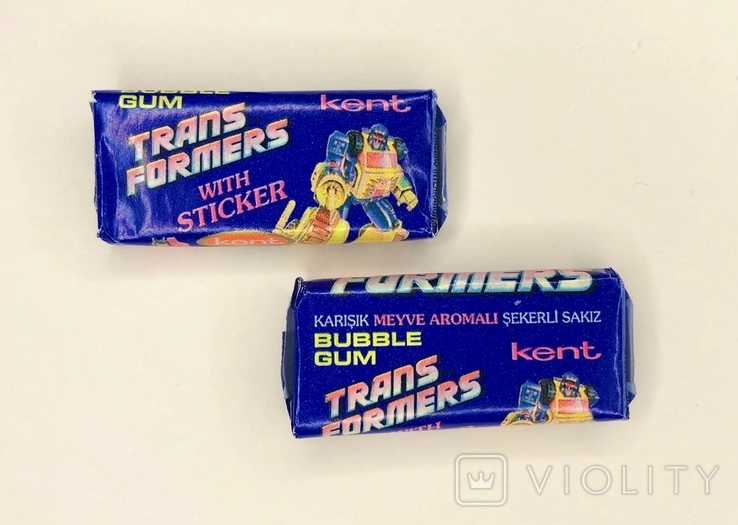 TRANSFORMERS. Chewing gum. Жвачка. Жевательная резинка. 2 шт, фото №2