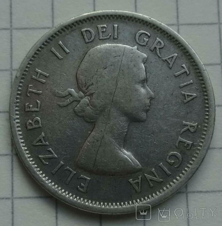 25 центов Канада, 1953 год., фото №5