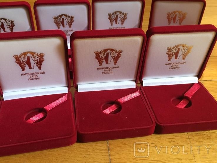 Футляры НБУ для золотых монет 2 гривны знаки зодиака 9 шт, фото №5