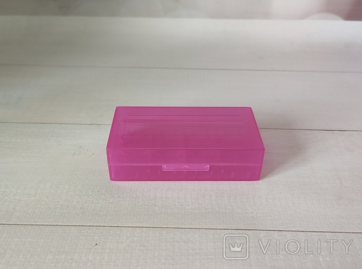 Коробка, бокс, футляр, кейс, для аккумуляторов 18650 фиолетовый