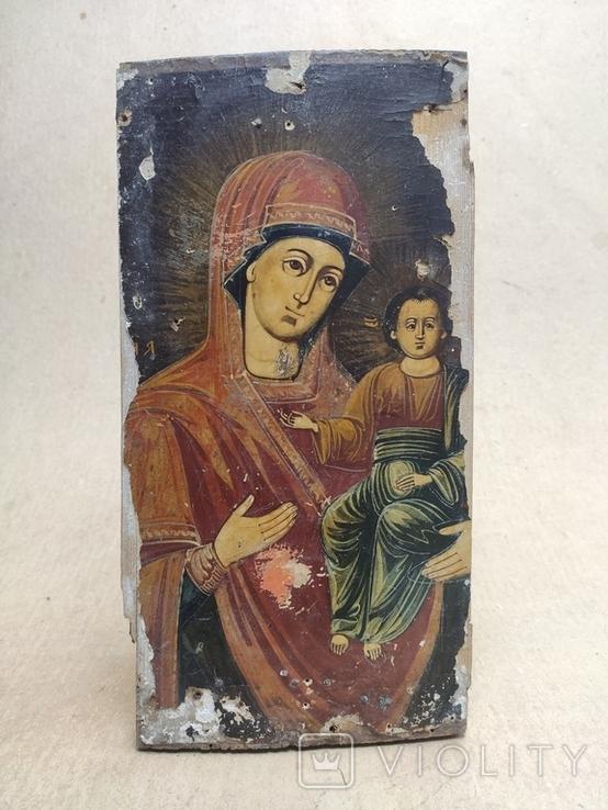 Богородица. На левкасе., фото №3