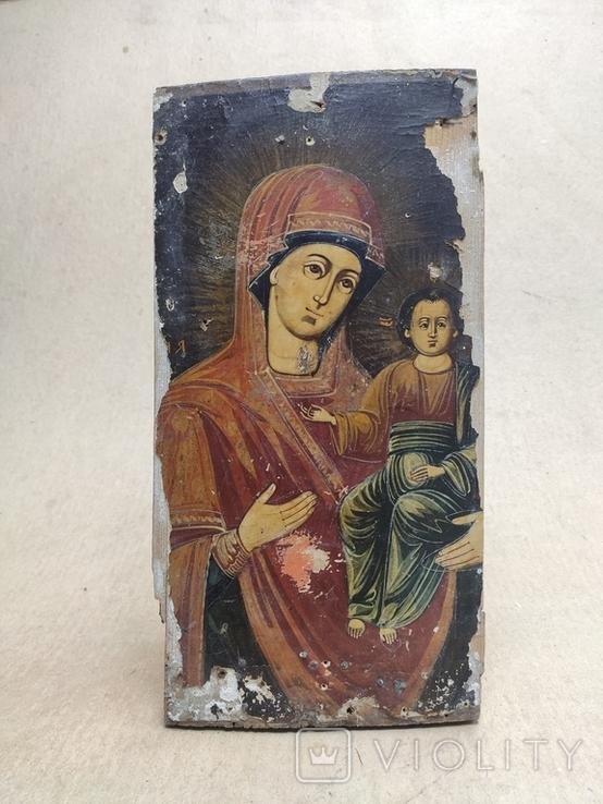 Богородица. На левкасе., фото №4