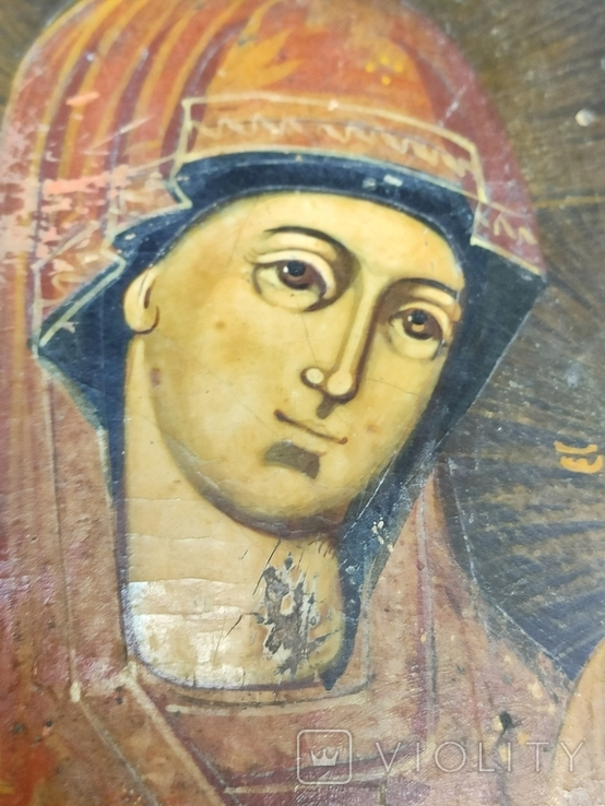 Богородица. На левкасе., фото №8