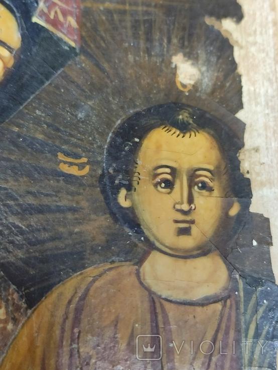 Богородица. На левкасе., фото №9