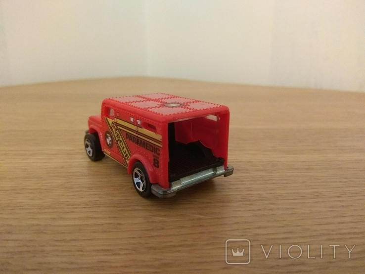 """Машина рятувальна """"Парамедик"""" Hot Wheels, Mattel Inc., 1996 року, фото №5"""