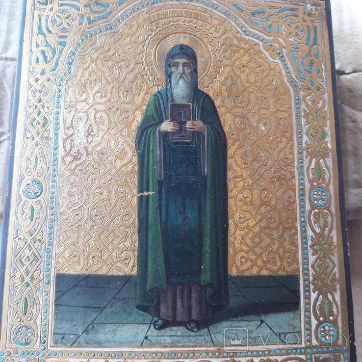 Икона Нестор Летописец 19-20в, фото №5