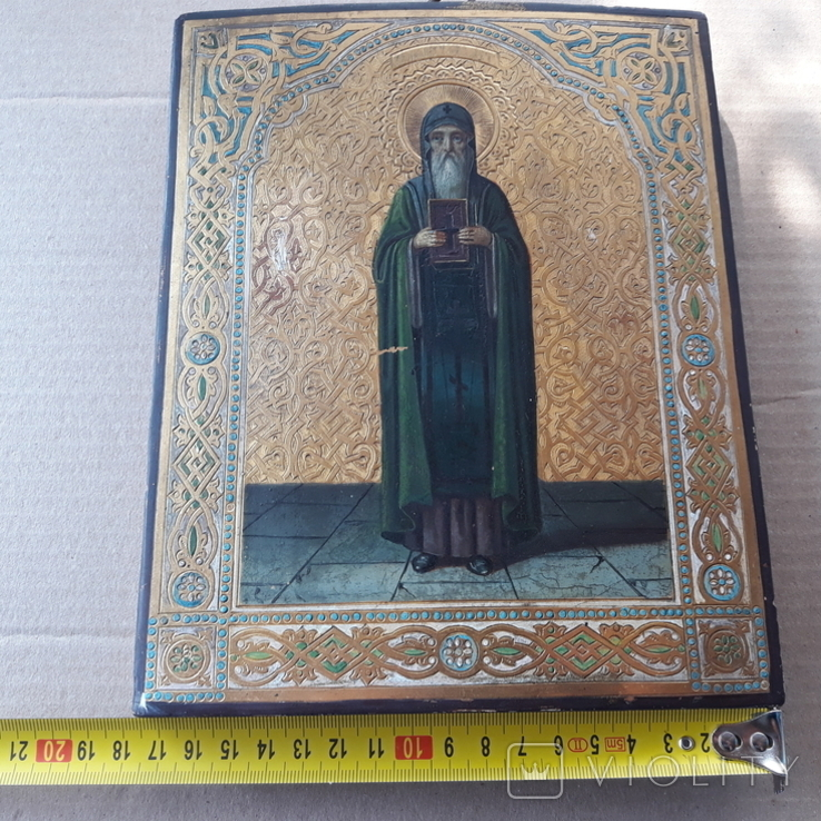 Икона Нестор Летописец 19-20в, фото №6